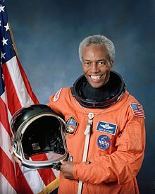 Guion Bluford - veteran of 4 shuttle missions.  He was the first African-American in space, and we share the same birthday!  (Nov. 22).