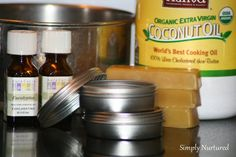 Homemade Herbal Vapor Rub to Relieve Coughs and Congestion - Keeper of the Home - beeswax, CO, eucalyptus EO.