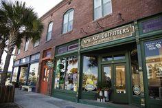 Avenue E in Downtown Apalachicola, Florida.