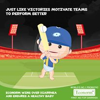 Mumbai Indians get their 1st win! In unexpected situations there's always some things that save the day. Econorm saves your baby from Diarrhea and makes sure his health wins!