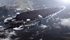 concept ships: Concept spaceships with environments by YongSub Noh