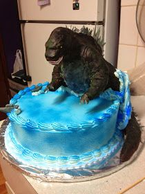 Love-Making in the Kitchen: Where Food Goes Beyond the Boundary of Hunger: Godzilla Cake Topper