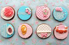 Vintage lace cookies by B. Milanova, via Flickr
