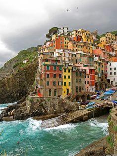 Riomaggiore, Italy Travel Destination..
