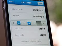 Edit Class iPhone UI (Mobile Design) by Jeff Broderick