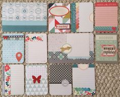 Dozen Handmade Project Life Cards 3x4 4x6 by jessicabree on Etsy