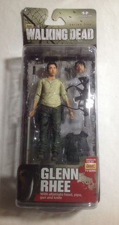 THE WALKING DEAD GLENN RHEE ACTION FIGURE MCFARLANE 2014 SERIES 5 NIB #McFarlaneToys #walkingdead