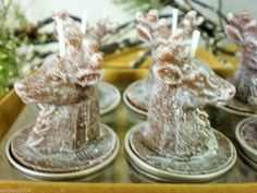 6 CHRISTMAS REINDEER  T LIGHT CANDLE IN GIFT BOX BURN TIME APPROX 4/5  HOURS  £8.99