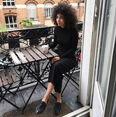 WEBSTA @ nikishabrunson - Relaxing on the balcony of our Airbnb. My black snake loafers by @zouxoushoes have been perfect for my trip to Paris. They are chic and comfy for all the walking we've done. #Paris #parisfrance #zouxoushoes #balconyinparis