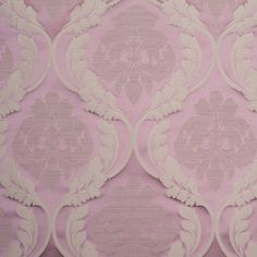 Lilac and Taupe Floral Satin Jacquard