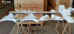 Piezas de retablo preparadas para digitalizado 3d