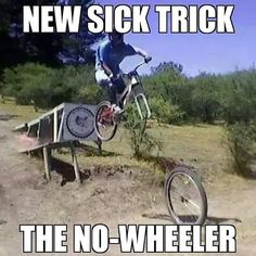 thinking of going for a no wheeler soon;) #mtb #freeride #funny by andibrewi
