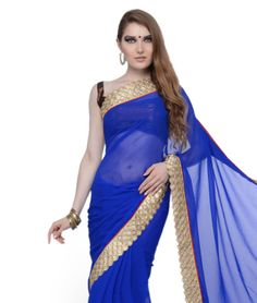 Light up every occasion by embracing yourself in this ravishing collection of sarees. Earmarked with playful colours and elegant work, it will glorify your feminine beauty and sensual delight. Drape it around and go majestic!Design Highlights: Zari Border WorkBRAND: RCPCCATEGORY: Saree with Unstitched BlouseARTICLECOLOURMATERIALLENGTHSareeBlueWrinkle Faux Georgette5.50 metersBlouseRedKosa Silk0.80 meterWe would always want to send you what we showcase but there might be a slight variation in…