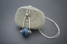 Contemporary glass pendant * Artisan Lampworking * Sterling silver