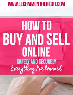 The Beginner's Guide to Buying and Selling Online || Le Chaim (on the right)