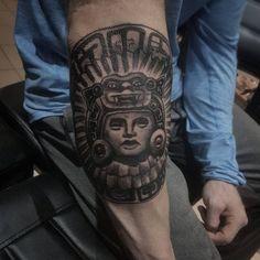 Symbolic Mayan Tattoo Ideas – Fusing Ancient Art with Modern Tattoos Totem Tattoo, Get A Tattoo, Mayan Tattoos, New Tattoos, Cool Tattoos, In Ancient Times, Ancient Art, Maori Tribe, Tatoo