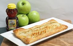 Apples and Honey Tart for Rosh Hashana. Takes literally 5 minutes of active time.