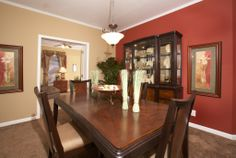 Formal dining room in the Regency Master Suite RF507A - Rockbridge Modular Home! This home has many areas for dining but this is formal!