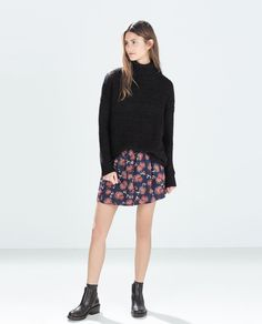 PRINTED FLARED SKIRT from Zara