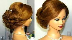 bridal updo hairstyles for long medium hair - YouTube
