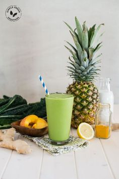 Tropical Turmeric Cleanser Green Smoothie - Simple Green Smoothies. I have been an addict to the water with lemon cleanser, but this one looks like it will be a little more #yummy
