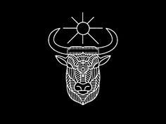 The Ox and Cobra designed by Brian Steely. the global community for designers and creative professionals. N Logo Design, Line Design, Logos, Typography Logo, Doodle Drawings, Doodle Art, Logo Inspiration, Graphic Design Illustration, Illustration Art