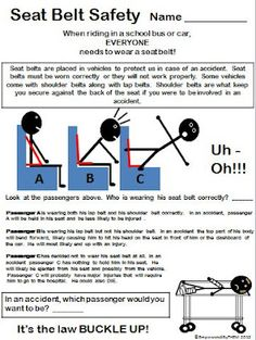 Empowered By THEM: September 2012 Seat belt safety. Maybe this will help my kids understand why they need to sit up straight in their seats!