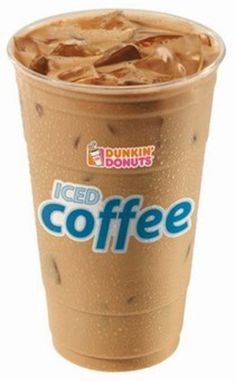 Dunkin' Donuts mocha iced coffee<3 add some caramel and skim milk and you have yourself a great drink