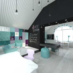 Дизайн гостевой детской комнаты для девочки. Фото интерьера 2015 года http://www.line-mg.ru/dizayn-detskoy-komnaty-dlya-devochki-biruzovyj-sirenevyj