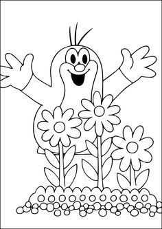16 The Mole printable coloring pages for kids. Find on coloring-book thousands of coloring pages. Online Coloring Pages, Printable Coloring Pages, Coloring Pages For Kids, Coloring Books, Colouring, La Petite Taupe, Windows Color, Quiet Book Templates, The Mole