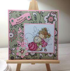 Carte anniversaire fille - Whimsy Stamp - Joyeux anniversaire