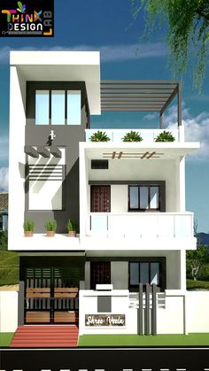 18 Single Floor Home Front Design Modern Single Floor Home Front Design Modern. 18 Single Floor Home Front Design Modern. Home Design with 4 Bedrooms Modern Exterior House Designs, Modern Small House Design, Cool House Designs, 3 Storey House Design, Bungalow House Design, Single Floor House Design, House Front Design, Architect Design House, Modern Bungalow House