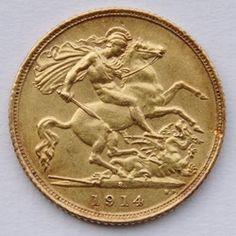 Retro della sterlina oro