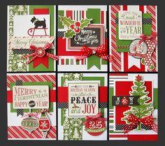 Christmas Cheer Card Kit   Kim's Card Kits   Handmade Christmas Card Kit With sparkle/shine and chalkboard?