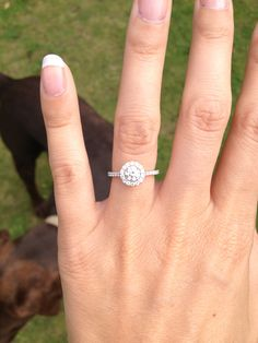Halo Engagement Ring. A favorite!!!!