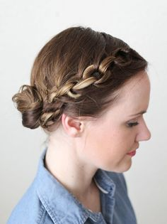 how to style a chain braid (click through for tutorial)