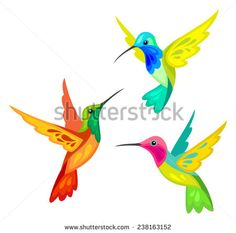 Stylized Birds royalty-free stylized birds stock vector art & more images of hummingbird Couple Drawings, Bird Drawings, Art Colibri, Hummingbird Painting, Hummingbird Photos, Motifs Animal, Glass Birds, Kirigami, Simple Art