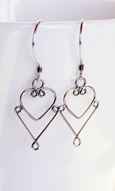 Oxidized Sterling Silver  Earrings. For Valentine's £15.00