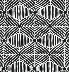 Tribal Indoor Outdoor Black & White Fabric by the Yard, Designer Thatch  Outdoor Fabric, Topical Tribal Home Decor Fabric Black  S112