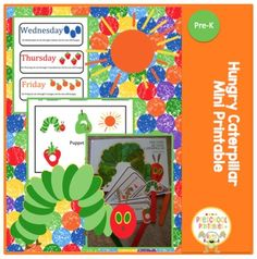 Free Hungry Caterpillar Mini Printable