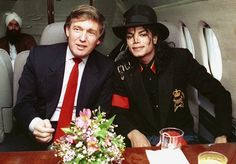 Michael Jackson and Donald Trump in the early 90's
