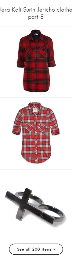 """""""Hera Kali Surin Jericho clothes part 8"""" by lrdart ❤ liked on Polyvore featuring tops, blouses, shirts, camisas, red blouse, long sleeve button shirt, long sleeve shirts, red long sleeve shirt, flannel button-down shirts and plaid"""