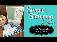 Pretty Paper Makes Pretty Cards   Double Feature   Simple Stamping - YouTube Card Making Tips, Card Making Tutorials, Card Making Techniques, Making Ideas, Video Tutorials, How To Make Greetings, Pop Up Card, Cute Cows, Fancy Fold Cards