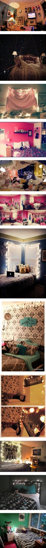 I love the 5th room :)   Bedrooms! :) by ievish on Polyvore  teen hipster tumblr bedroom inspiration