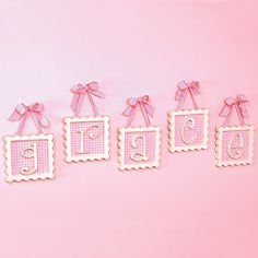 Gingham Framed Wall Letters | New Arrivals | Wall Letter | Nursery