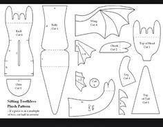 ️DIY Dreamworks:Dragons Sewing Pattern And Instructions For Giant .✂️DIY Dreamworks:Dragons Sewing Pattern And Instructions For Giant Plush Toothless Dragon✂️? Plushie Patterns, Animal Sewing Patterns, Sewing Patterns Free, Free Pattern, Pattern Sewing, Doll Patterns, Pattern Art, Crochet Patterns, Sewing Toys