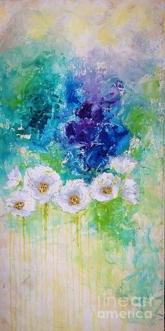 White Poppies Painting - Floral Essence by Julie Janney Acrylic Art, Acrylic Paintings, Oil Painting Tips, Impressionist Art, Abstract Landscape, Poppies Painting, Artsy, Art Flowers, Art Floral