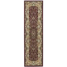kathy ireland Antiquities Stately Empire Burgundy Area Rug by Nourison (2'2 x 7'6)