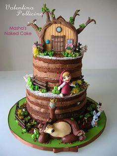 Masha e Orso (Masha and the Bear cake) Masha e Orso (Masha und der Bär Kuchen) Masha and the Bear Birthday Party (Visited 1 times, 1 visits today) Bear Birthday, Birthday Cake, Fondant Cakes, Cupcake Cakes, Masha Et Mishka, Masha Cake, Bolo Laura, Marsha And The Bear, Gateaux Cake