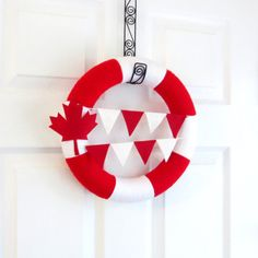 Canada Day Yarn Wreath Red White Maple by HeartfeltYarnWreaths diy crafts christmas Canada Day Crafts, Diy Wreath, Wreaths, Canada Day Party, Canadian Animals, Canada Holiday, Birthday Lunch, Canada 150, Craft Ideas